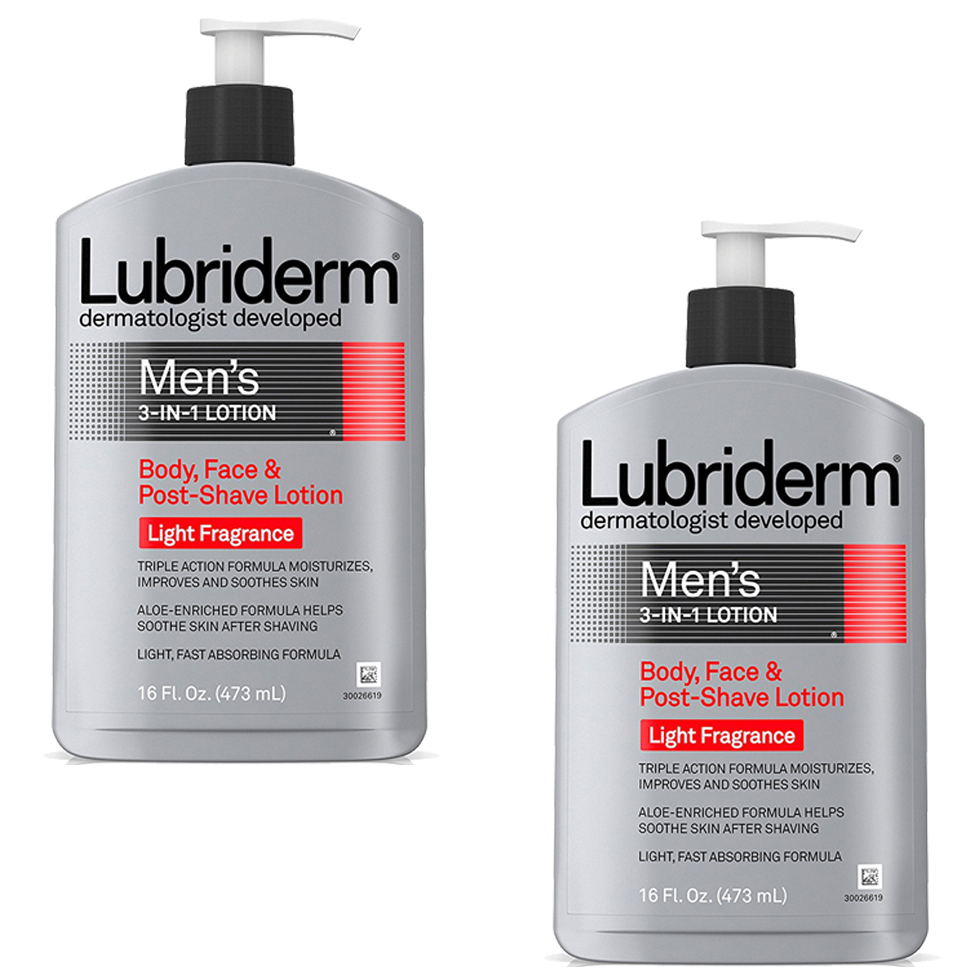Lubriderm Men's 3-in-1 Body, Face and Shave Lotion Light Fra